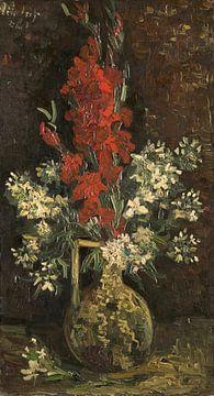Vase mit roten und weißen Blumen, Vincent van Gogh