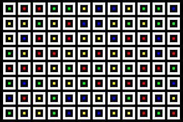 Nested | Center | 12x08 | N=02 | Random #03 | RGBY van Gerhard Haberern
