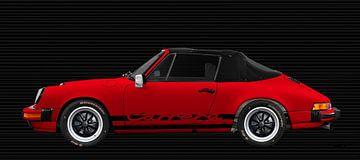 Porsche 911 3.2 Carrera Cabrio en rouge sur aRi F. Huber