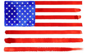 Symbolische nationale vlag van Amerika van Achim Prill