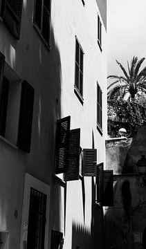 Stadsbeeld Palma de Mallorca op een mooie lentedag van Clazien Boot