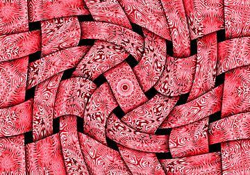 Waving Weaves in Pink (Gewoven Golven in Roze) van Caroline Lichthart