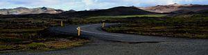 Verlaten weg in IJsland