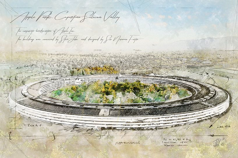 Appelpark, Cupertino van Theodor Decker