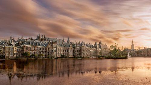 Den Haag: Hofvijver bij zonsondergang