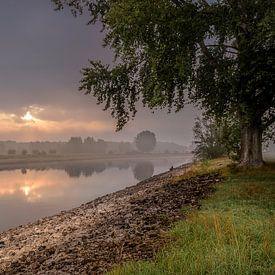 Zonsopkomst Rivier de IJssel van Patrick Rodink
