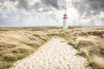 Leuchtturm List-West auf der Ellenbogen-Halbinsel, Sylt von Christian Müringer