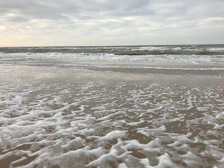 Strand in een storm