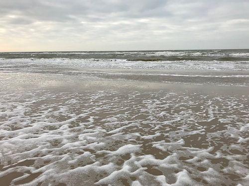 Strand in een storm van Eveline van Vuren