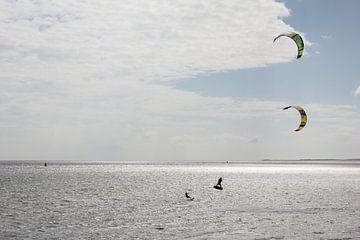 Kitesurfen op Terschelling van Nynke van der Ploeg