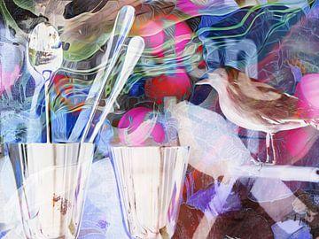 Vogel, Glas von angelique van Riet