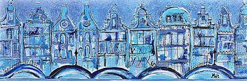Grachtengordel Amsterdam Stadsgezicht van Kunstenares Mir Mirthe Kolkman van der Klip
