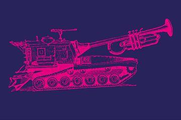 Trumpet Tank - paars/magenta van Rembrandt Ross