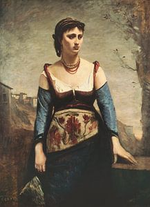 Agostina, Jean-Baptiste-Camille Corot