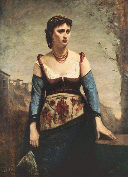 Agostina, Jean-Baptiste-Camille Corot von Meesterlijcke Meesters