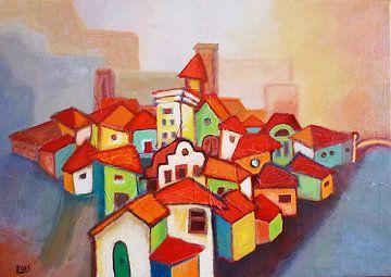 De stad van Lorette Kos