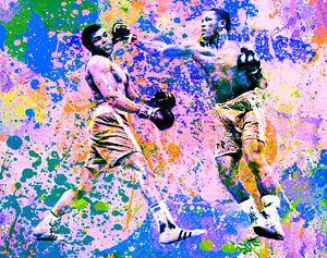 Motiv Muhammed Ali vs Joe Frazier Sport Pop Art Pur