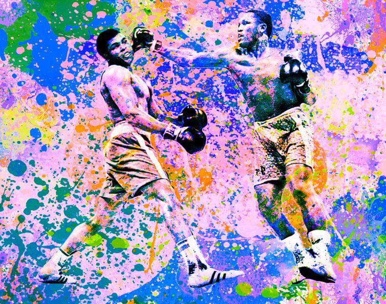 Muhammed Ali vs Joe Frazier Sport Pop Art Pur  van Felix von Altersheim