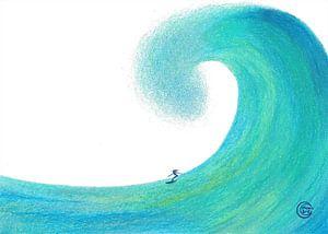 Aug den Wellen surfen