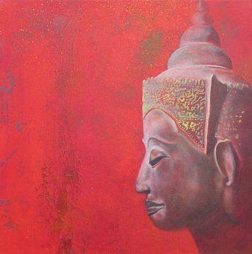 Buddha Red I von Helma van der Zwan