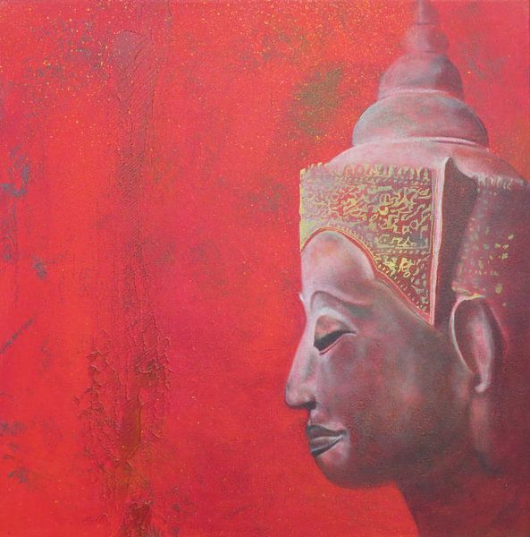 Boeddha Red I  van Helma van der Zwan