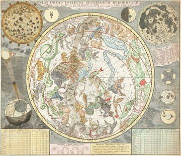 Carte du ciel étoilé austral, Carel Allard