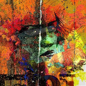 Lady behind colors
