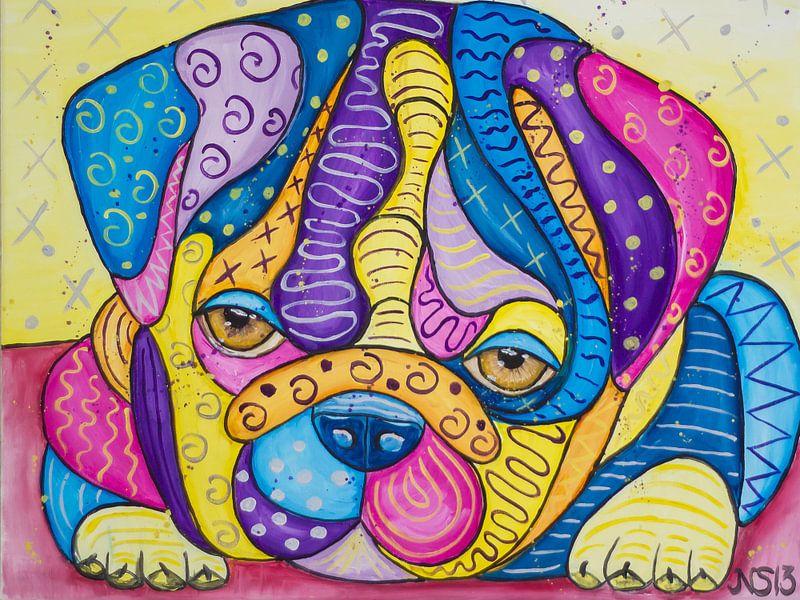 Sweet Bulldog Puppy van Nathalie Snoeijen-van Eck
