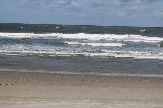 Texelse golven met schuimkop