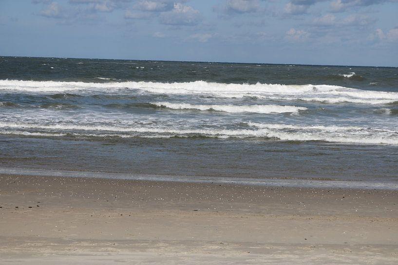 Texelse golven met schuimkop van Rosalie Broerze