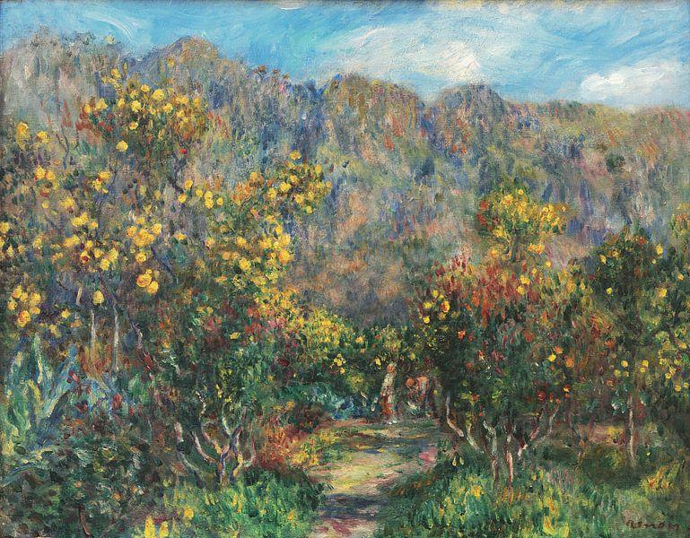 Landschaft mit Mimosas, Pierre-Auguste Renoir von Meesterlijcke Meesters