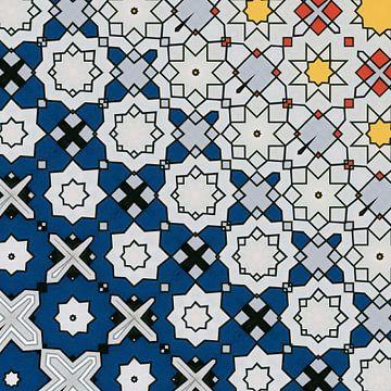 abstracte geometrische achtergrond met grafische elementen van Ariadna de Raadt