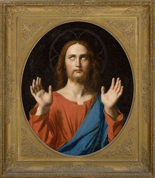 Der segnende Christus, Jean Auguste Dominique Ingres von Meesterlijcke Meesters