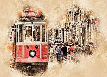 Historische Straßenbahn in Istanbul von Peter Roder