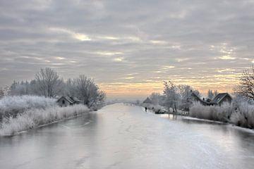 Der Busen bei Groot Ammers an einem schönen Wintertag von Jesse de Boom