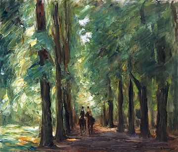 Zwei Reiter in der Allee bei Sakrow, Wohl - Max Liebermann, 1924