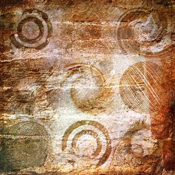 Variaties op een cirkel, bruin van Rietje Bulthuis
