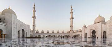 Sheikh Zayed Grand Moschee Abu Dhabi Vereinigte Arabische Emirate Innenraum Tageslichtansicht von Mohamed Abdelrazek