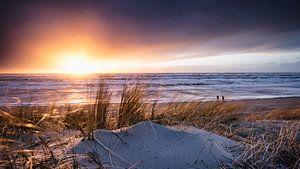 Zonsondergang na de storm