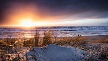 Zonsondergang na de storm van Martijn Kort