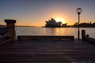 Syndey-Opernhaus mit Sonnenaufgang von Michael Bollen