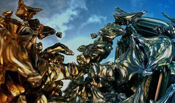 Abstracte beeldhouwwerken van Frank Heinz