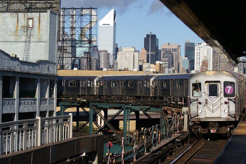 Manhattan outbound 7 train van Victor de Reuver