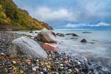 Baltic Sea coast on the island Moen in Denmark van