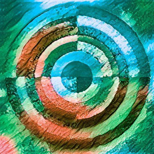 Cirkel groen, blauw en bruin