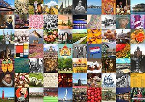 Typisch Nederland - collage van beelden van het land en historie