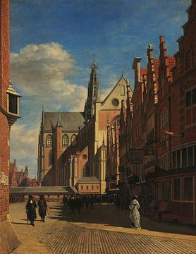 Der Marktplatz und die Grote Kerk von Saint-Bavo in Haarlem, Gerrit Adriaensz Berckheyde