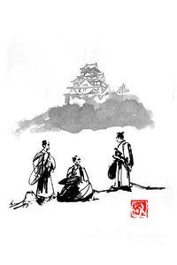 drei Samurais von Péchane Sumie