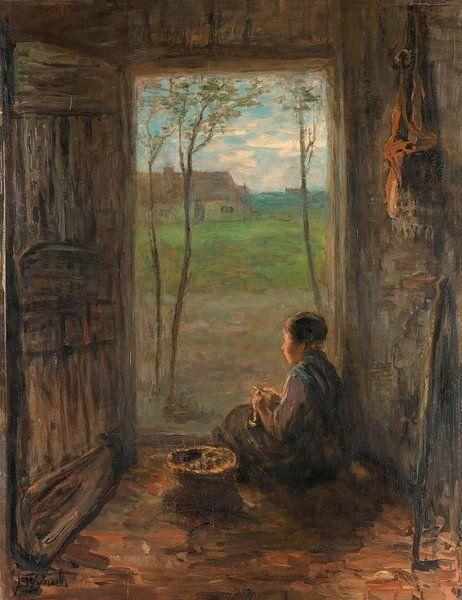 Szene aus Laren, Jozef Israëls von Meesterlijcke Meesters
