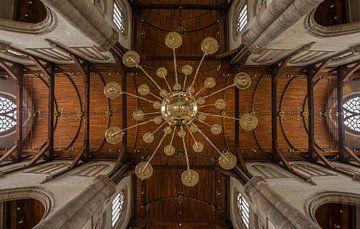 Het plafond van de Laurenskerk in Rotterdam van